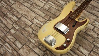 Fender Precision Bass 1964 Custom Shop Heavy Relic 2013 Namm Vintage White