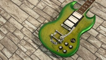 Gibson SG Deluxe Limeburst 2013 Bigsby